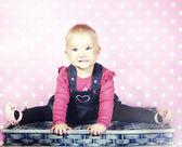 Little baby girl posing. — Photo