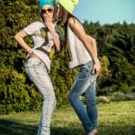 dvě krásné dívky — Stock fotografie #48609505