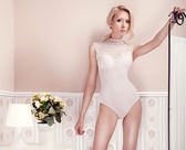 Delicate blonde beauty posing — Stock Photo