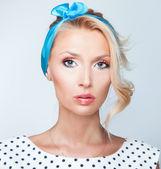 Portrait of beauty blonde lady — Stock Photo