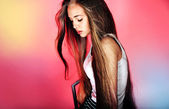 Young girl with long hair posing — ストック写真