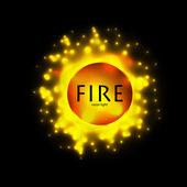 Círculo de fuego ardiente abstracto — Vector de stock