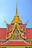 Church roof, wat Saikao, Chaingrai, Thailan — Stock Photo