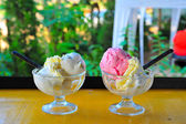 Ice cream on Glass cup — Stock Photo