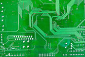 Circuit board with electronic components macro background — Foto de Stock