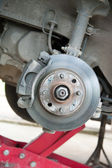 Maintenance suspension of cars — Foto de Stock
