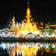 Wat Jong Klang temple reflected in the Nong Jong Kham pond in Ma — Stock Photo #45531447