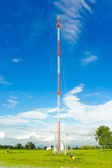 Stanchion.Phone tower signals.  — Stock Photo