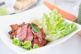 Spicy pork salad with vegetables , Thailand food  — Stock Photo