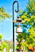 The thailand lantern for light on the road — Stock Photo