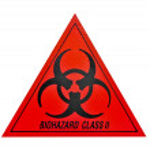 Biohazard class ii symbol sign of biological threat alert, black — Stock Photo #47197339