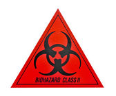 Biohazard class ii symbol sign of biological threat alert, black — Stock Photo