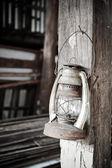 Old rusty kerosene lamp  — Foto de Stock