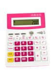 The red calculator isolated on white background — Zdjęcie stockowe