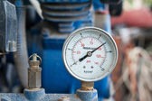 Closeup of pressure meter  — Stock Photo