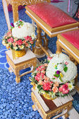 Blessed water at Thai wedding ceremony. — Photo