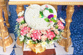 Blessed water at Thai wedding ceremony. — Stock Photo