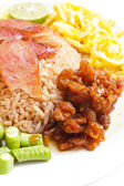 Fried rice with Shrimp paste. — Stock Photo