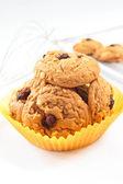 Oatmeal τα μπισκότα σταφίδων. — 图库照片