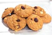 Biscuits à l'avoine aux raisins. — Photo