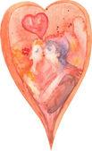Láska srdce. — Stock fotografie