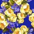 Blue Flowers Pattern — Stock Photo