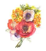 Vermelhas e rosa flores — Foto Stock
