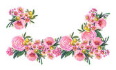 Roses Seamless Garland — Foto Stock