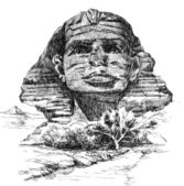 Sphinx Sketch — Stock Photo