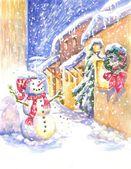 Snowman . — Stock Photo