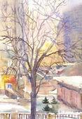 Winter City — Stock Photo