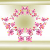 Orchid Garland. — Stock Photo