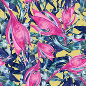 Pink  flower pattern — Stock Photo
