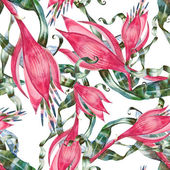Red flower  pattern — Stock Photo
