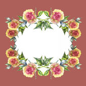 Roses frame — Stock Photo