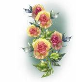 Rose garland — Stockfoto