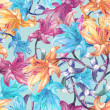 Lily flowers seamless pattern — Stock Photo #51633581