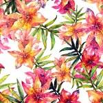 Lily flowers seamless pattern — Stock Photo #51633987