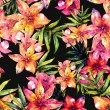 Lily flowers seamless pattern — Stock Photo #51633995