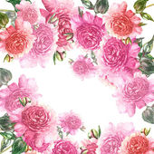 Pink Peonies Garland — Stock Photo