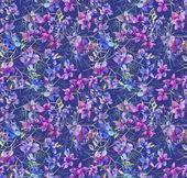 Summer Blue Flowers Seamless Pattern — Stock Photo