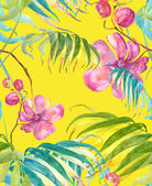 Tropical Flowers Seamless Pattern — Stock Photo