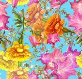 Petunia and Marigold Flowers — Stock Photo