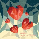 Polygonal hearts — Stock Vector