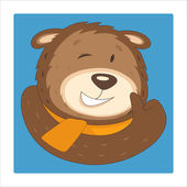 Bear character — Stock Vector