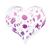 Floral heart — Stockvector