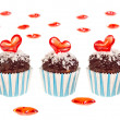 Stock Photo: Valentine cupcakes