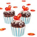 Valentine cupcakes — Stock Photo