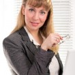 Business woman at her desk — Stock Photo