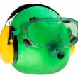 Goggles and ear protectors, protective equipment — Stock Photo #40977233